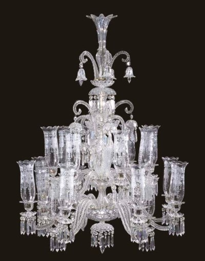 A French cut- and etched-glass
