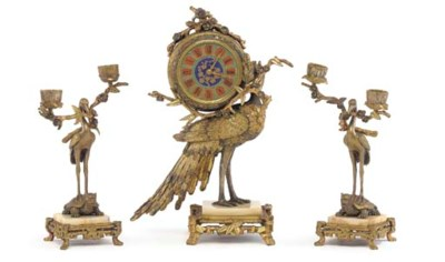 A French 'Japonisme' ormolu an