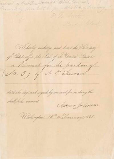 JOHNSON, Andrew (1808-1875). P