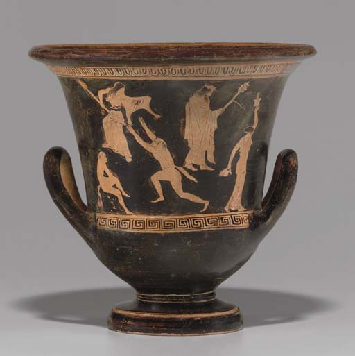 AN ATTIC RED-FIGURED CALYX-KRATER