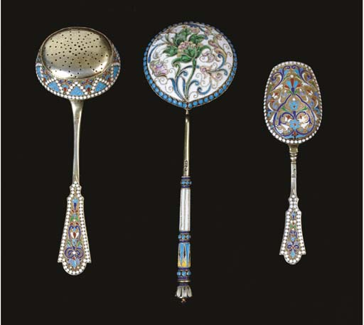 THREE RUSSIAN SILVER AND CLOIS