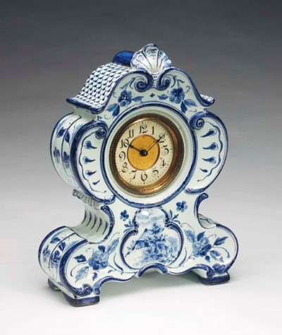 A DUTCH DELFT STYLE BLUE AND W