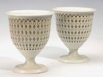 A PAIR OF BERLIN WHITE PORCELA