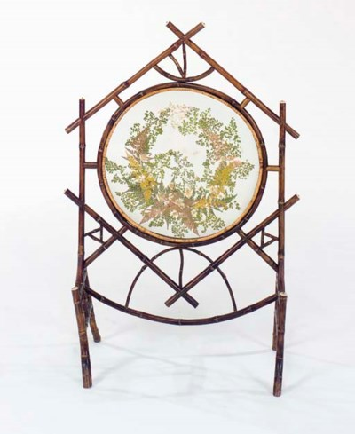 A VICTORIAN BAMBOO AND PAINTED
