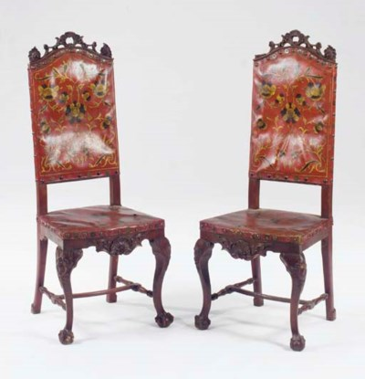 A PAIR OF BAROQUE STYLE PAINTE