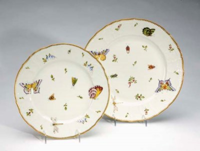 A HUNGARIAN PAINTED PORCELAIN