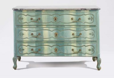 A FRENCH PROVINCIAL PAINT-DECO