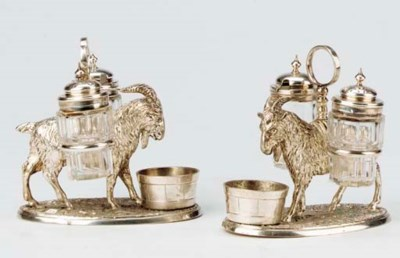 A PAIR OF ENGLISH SILVER-PLATE