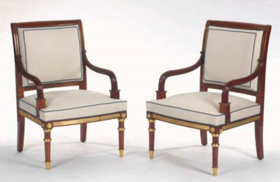 A PAIR OF RUSSIAN GILT-METAL M