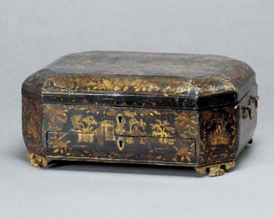 A CHINESE EXPORT LACQUER SEWIN