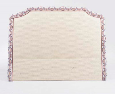 A DOUBLE UPHOLSTERED HEADBOARD
