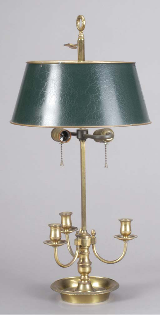 A GILT-BRONZE BOUILLOTTE LAMP,