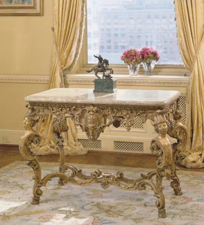 A FRENCH GILTWOOD CENTER TABLE