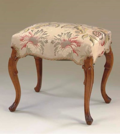 A EUROPEAN ROSEWOOD FOOTSTOOL