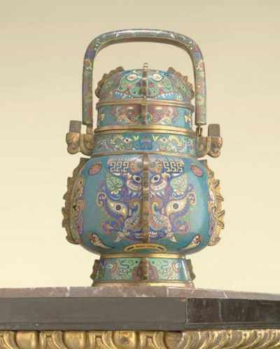 A CHINESE ARCHAISTIC CLOISONNE