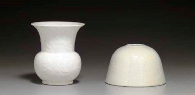 TWO SMALL WHITE-GLAZED VESSELS
