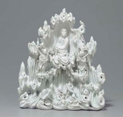 A RARE BLANC-DE-CHINE BUDDHIST