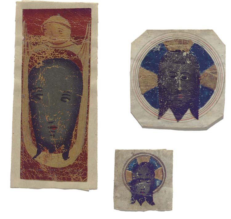 ST VERONICA WITH THE HOLY FACE, painting on leather