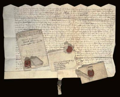 DOCUMENTS OF TITLE on vellum