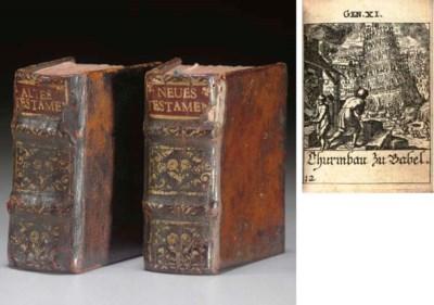 [MINIATURE BOOK].  BIBLE, Germ