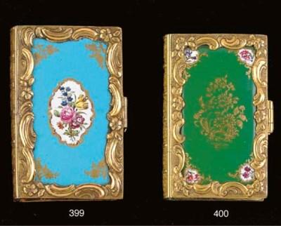 [ENAMEL BOOK COVER].  Louis XV