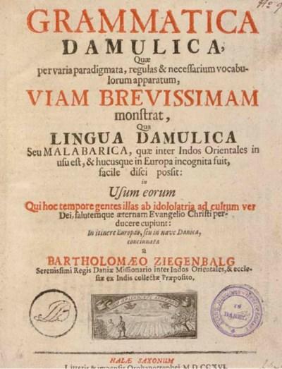 ZIEGENBALG, Batholomaeus (1683