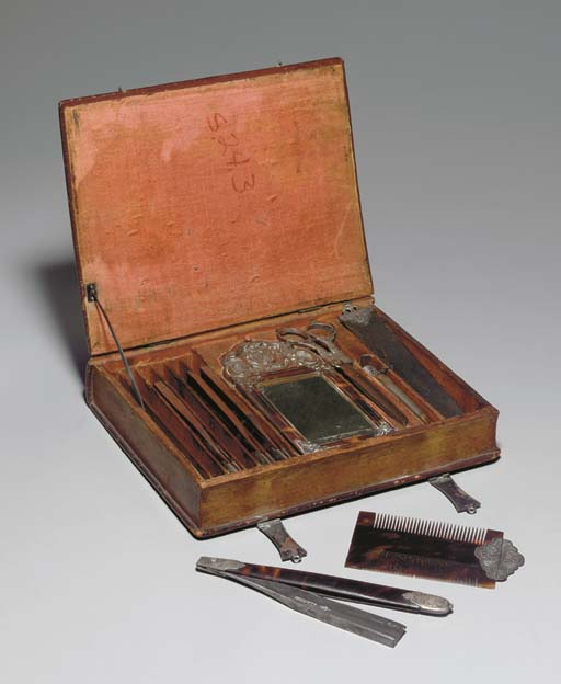[SHAVING KIT.] Spain, 18th century.