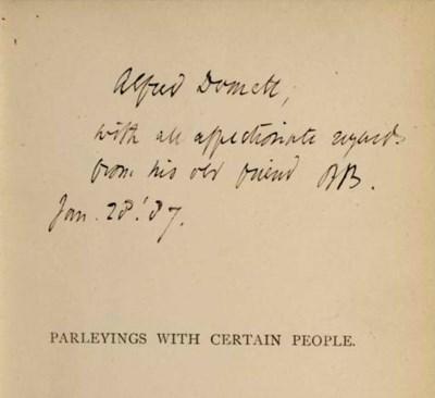 BROWNING, Robert. Parleyings w