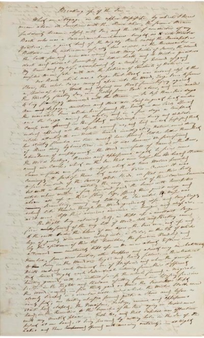 AUDUBON, John James. Autograph