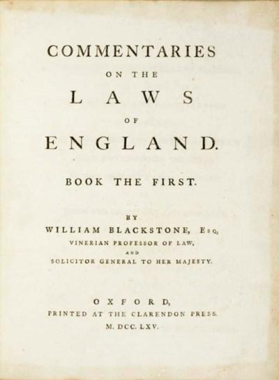 BLACKSTONE, William (1723-1780
