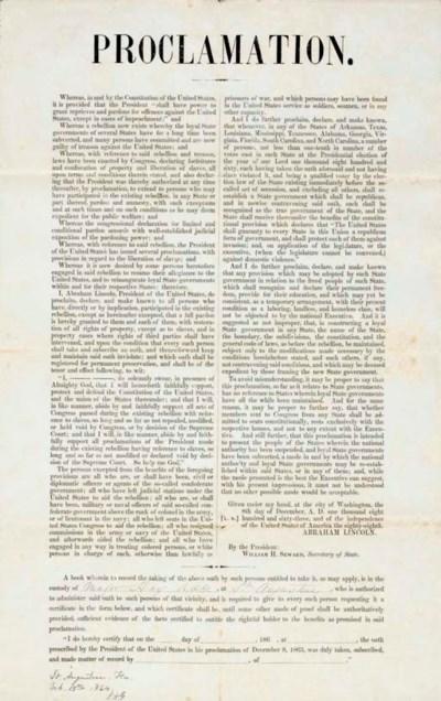 [CIVIL WAR]. Lincoln's Proclam