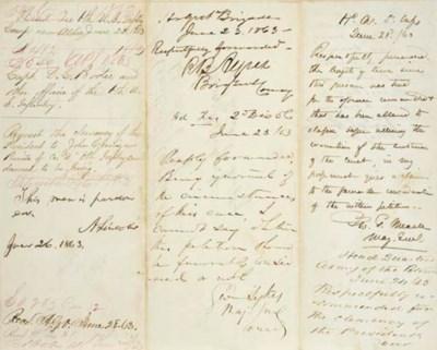 LINCOLN, Abraham. Autograph en