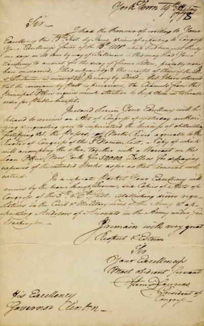 LAURENS, Henry (1724-1792), Pr