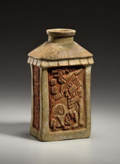 MAYAN CARVED CONTAINER