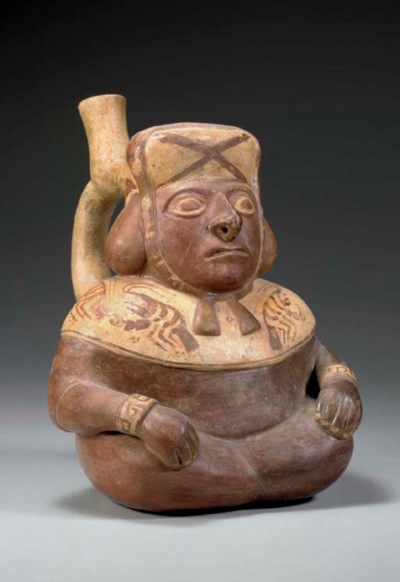 MIDDLE MOCHICA FIGURAL VESSEL