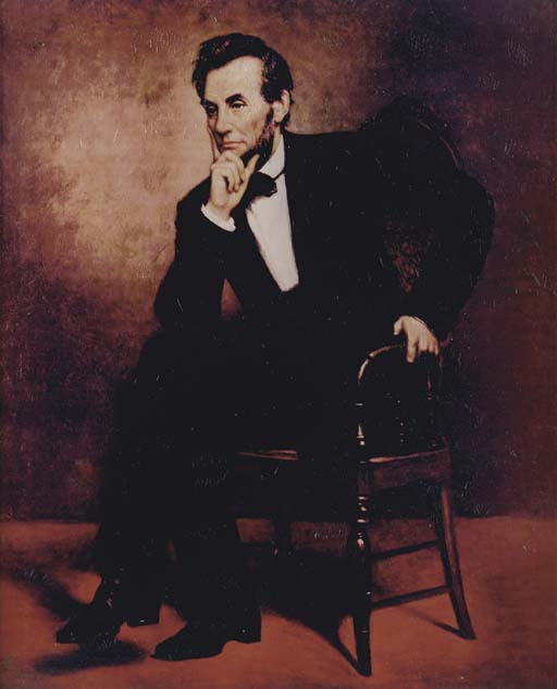 ABRAHAM LINCOLN OIL PAINTING FROM THE ENTERPRISE-A OFFICER'S MESS