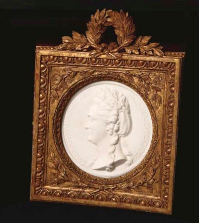 A LOUIS XVI SEVRES BISCUIT MED