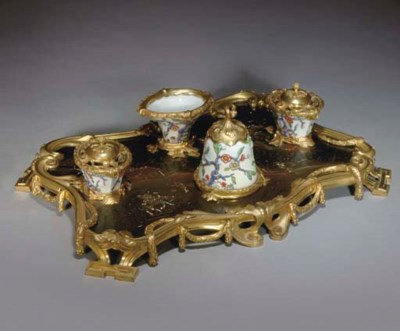 A FRENCH ORMOLU-MOUNTED POLYCH