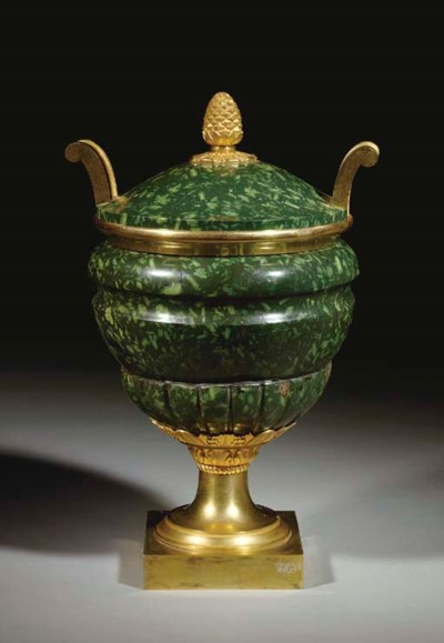 AN EMPIRE ORMOLU-MOUNTED PORFI