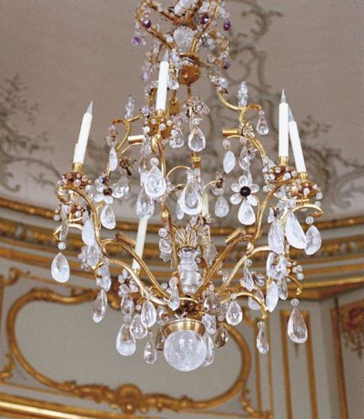 A FRENCH ORMOLU AND ROCK CRYST