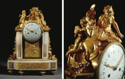 A LOUIS XVI ORMOLU AND WHITE M
