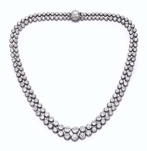 A TWO-STRAND RIVIERE NECKLACE