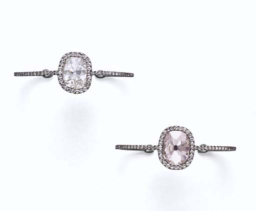 A PAIR OF DIAMOND BANGLES, BY