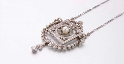 COLLIER PENDENTIF DIAMANTS