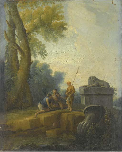 ENTOURAGE D'HUBERT ROBERT (PAR