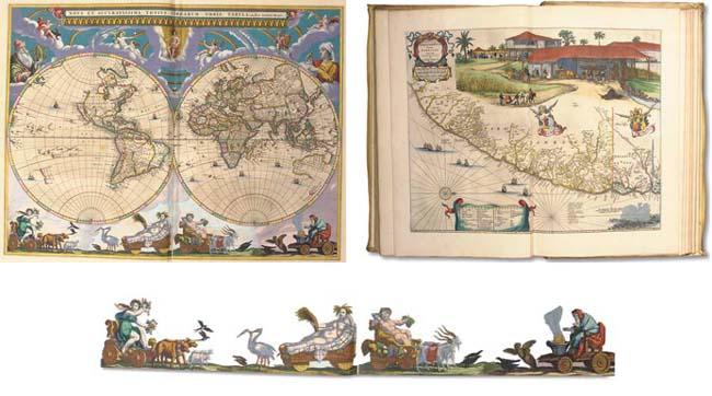 BLAEU, Joan (1596-1673) & Willem BLAEU (1571-1638). Le Grand Atlas, ou Cosmographie Blaviane; en laquelle est exactement descrite la terre, la mer et le ciel. [Premier] - douzième volume. Amsterdam: Jean Blaeu, 1667.