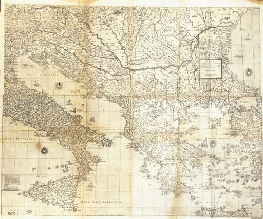 [EUROPE] -- LAFRERI, Antonio. Geographia particolare d'una gran parte dell'Europa, nuovamente descritta. Rome: Antonio Lafreri, gravée par Fabio Licinio, 1560.