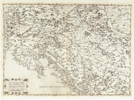 [DALMATIE ET CROATIE] -- BERTELLI, Ferando. Nova discrittione dela Dalmatia et Crouatia. Venise: Ferando Bertelli, 1565.
