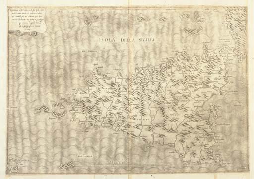 [SICILE] -- GASTALDI, Giacomo. Isola della Sicilia. Descrittione della Sicilia con le sue isole. Venise: Giacomo Gastaldo, 1545.