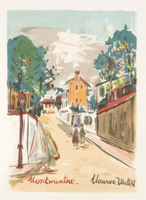 [UTRILLO] -- CARCO, Francis (1886-1958). Montmartre vécu par Utrillo. Paris: Imprimerie nationale pour les Éditions Pétridès, 30 avril 1947.